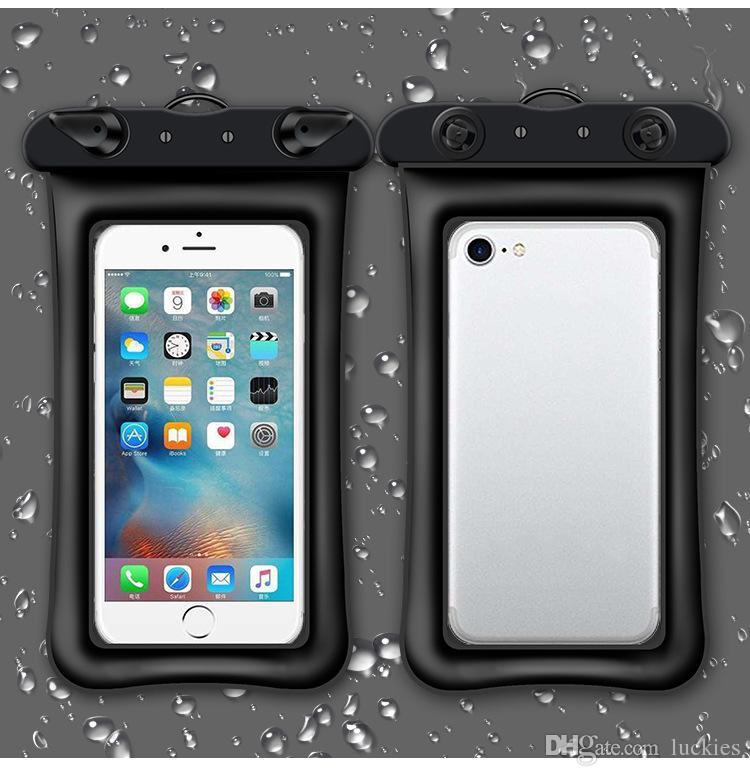 Waterproof Cellphone Dry Floating Bag Pouch Clear PVC Touch Case with Neck Strap for iPhone 8/7 Plus Up to 5.5 inch Other Phone
