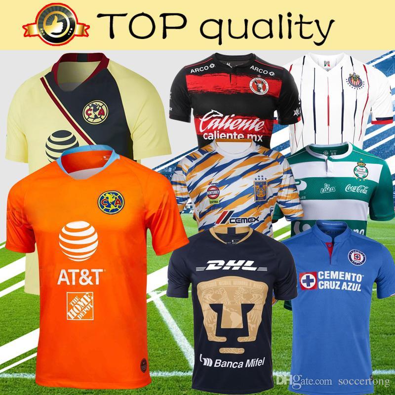 a3cd8298068 2019 Liga MX Xolos De Tijuana Cruz Azul UNAM Club America Guadalajara  Chivas Tigres UANL Soccer Jersey 2019 Football Shirt From Soccertong,  $15.89 | DHgate.
