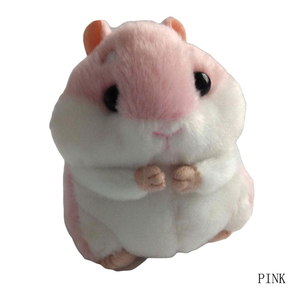 Cute Soft Plush Cartoon Animal Keychain Small Hamster Toy Doll Keyring Stuffed Mouse Pendant Key Chain Women Bag Charms Trinket