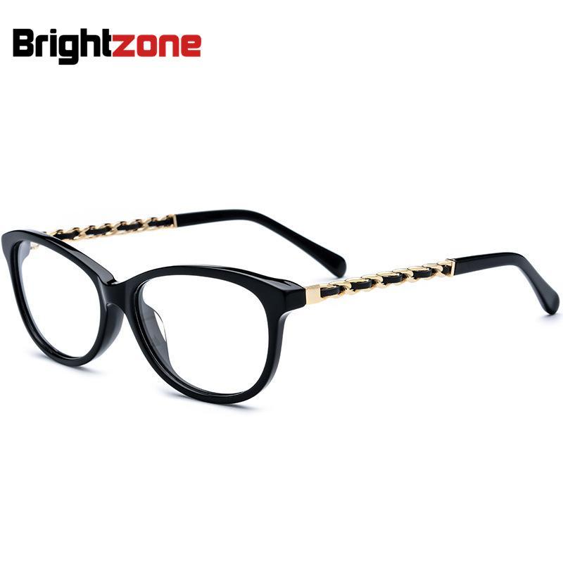 258e2b84e Compre Tendências Da Moda Acetato Pesado Completa Aro Oval Cats Eye  Masculino Rodada Vogue Óculos Quadro Pode Fazer Lentes Graduadas Óculos  Falsos De ...