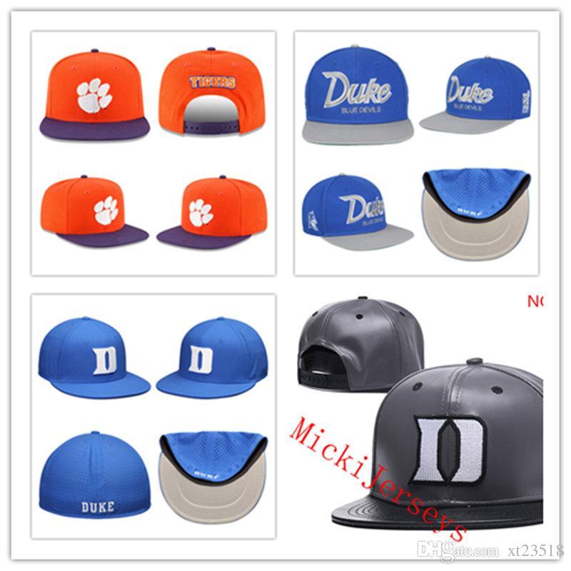 3b0393a1055d3 Acheter NCAA Duke Blue Devils Snapback Caps Noir Orange Clemson Tigers  Snapback Caps Taille Unique Plus De $9.85 Du Xt23518 | DHgate.Com