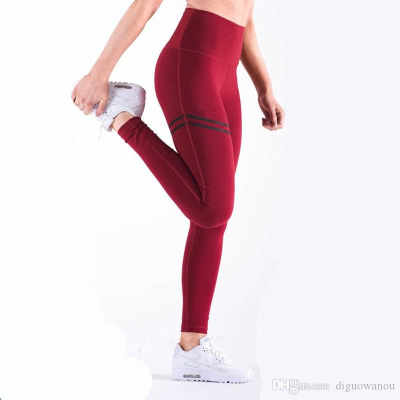 7138799616ad5 2019 Women Yoga Pants High Elastic Fitness Sport Leggings Tights Running  Sportswear Sports Pant Girl Gym Quick Dry Training Trousers From  Diguowanou, ...