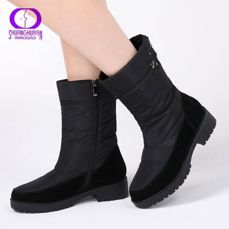 0c55def07d08 2019 AIMEIGAO 2018 New Snow Boots For Women Winter Fur Warm Boots ...
