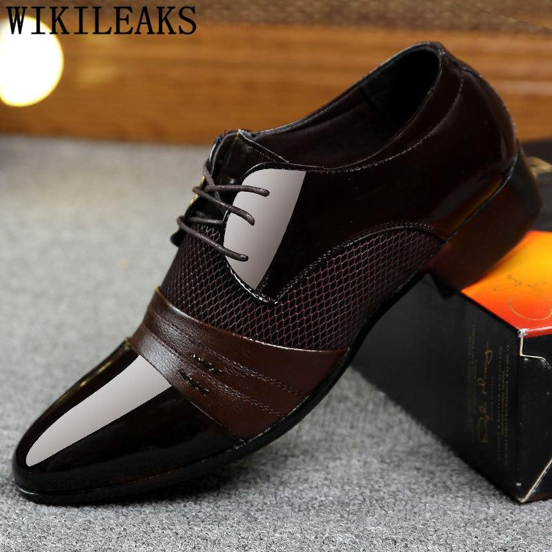 Men's Shoes 2019 New Summer Designer Loafers Mens Wedding Dress Oxford Shoes For Men Italian Leather Shoes Men Formal Zapatos Hombre Vestir Special Buy