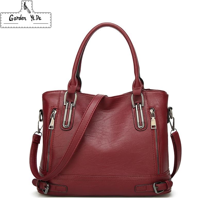 832b1df1840e 2019 New Leather Women s Handbag Luxury Women Shoulder Bags Designer ...