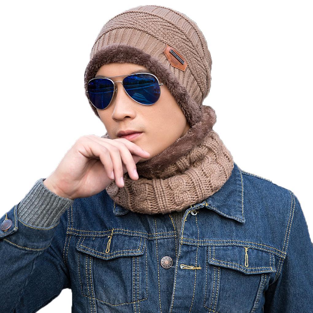 2019 New Winter Beanie Hat Scarf Set Warm Knit Hat Thick Knit Skull Cap Men  Women Girls Ski From Litchiguo 692ab7ac6ae