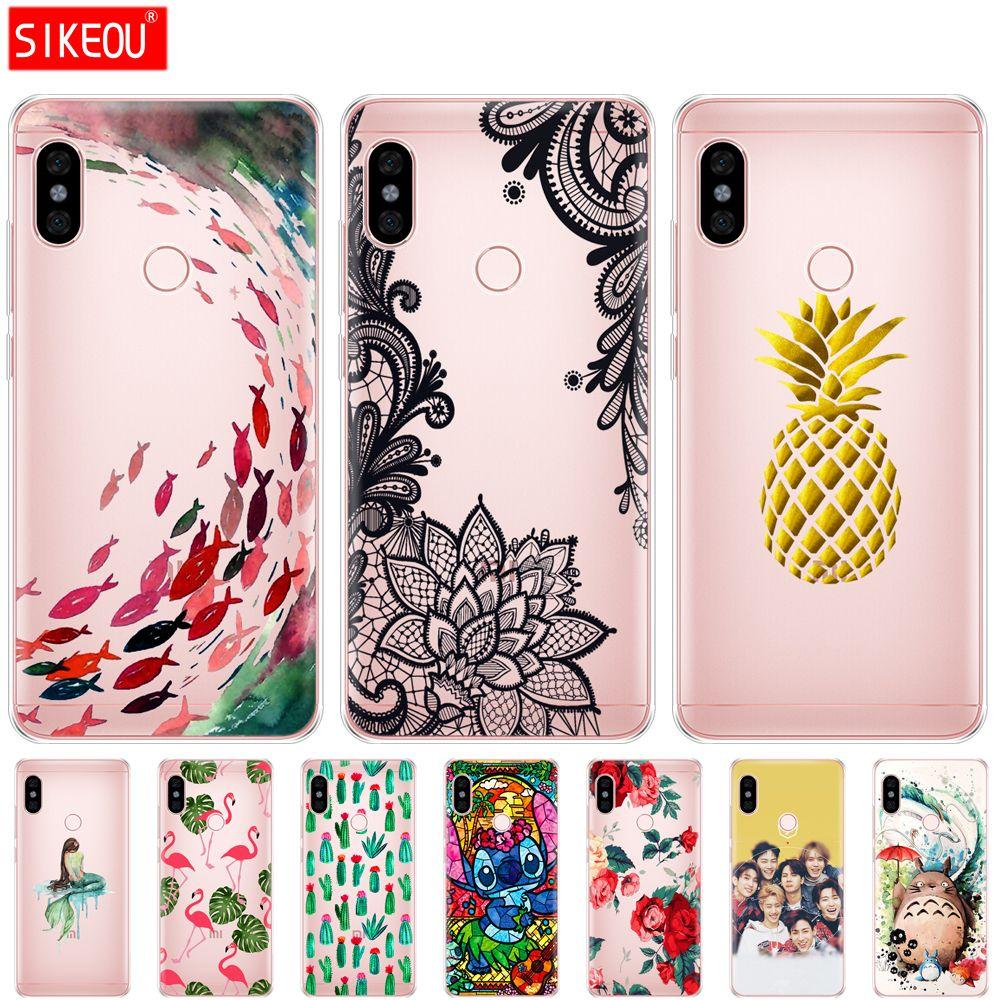 lowest price 0942d e33bc Silicone Case For Xiaomi Redmi Note 6 Pro Case 6.26 Phone Case Soft Tpu  Back Cover For Xiaomi Redmi Note 6 Pro Printing Coque