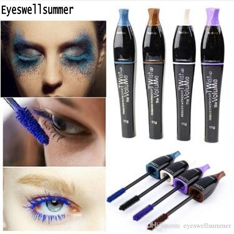 Color Mascara Waterproof Eyelashes Lengthening Extension Color Ink
