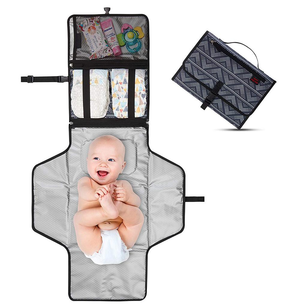 1pc Multifunction Portable Diaper Changing Bag Pad Folding Bag Baby Changing Mat