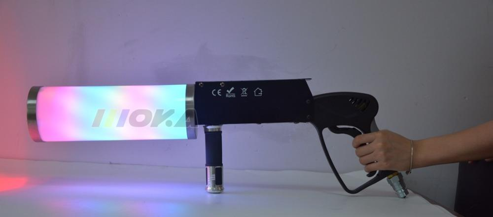 2 Unids / lote Efectos Especiales Pistola Co2 Jet Gas Gun Co2 DJ Gun LED CO2 Jet spray machine para DJ Stage Light