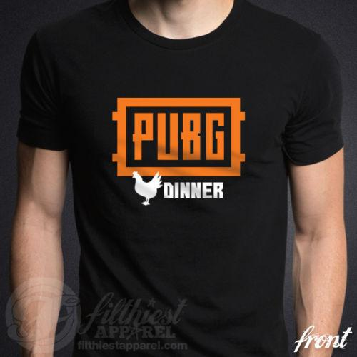cfe7ab87 PUBG T-Shirt PlayerUnknown's Battlegrounds Winner Chicken Dinner LMS Funny