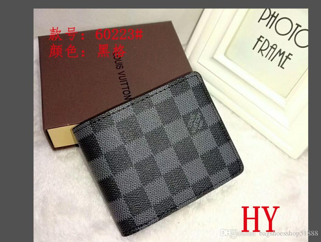 European style designer brand wallet fashion Men mini purse pu material wallets Multi-card open card purses 01