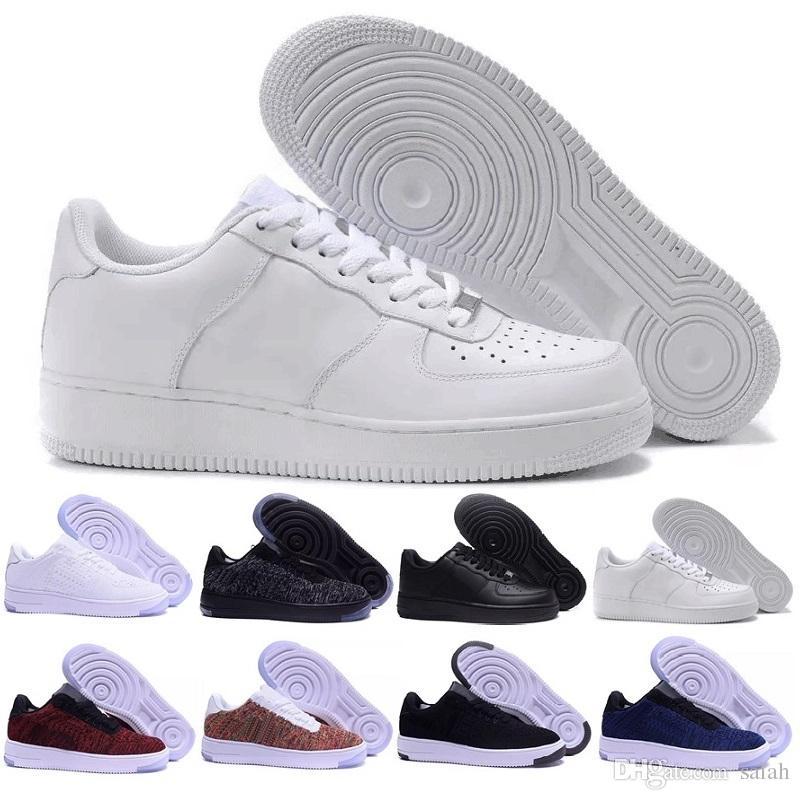 Nike air force one Estilo Clásico Hombres Mujeres Para 1 Una Zapatillas Zapatillas de deporte Famosos Zapatos de Skate Blanco Negro Eur 36 45