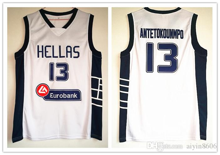 the best attitude 9cef2 6631b Hellas #13 Giannis Antetokounmpo basketball Jersey All Stitched man youth  Fast kid jerseys Free Shipping S-5XL