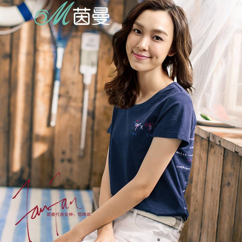 INMAN 2019 New Products Women Summer Printing Cotton Short Sleeve Women T shirt Women Tops J190425
