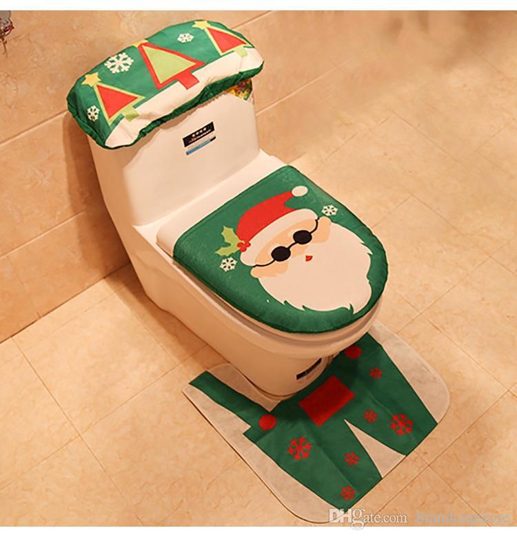 Set Bagno Babbo Natale.Acquista Fengrise Fancy Babbo Natale Tappeto Sedile Bagno Set