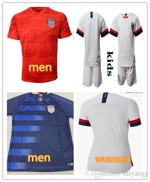 huge discount e391a f0dbd 19 20 USA PULISIC Soccer Jersey 2019 Women men kids kit DEMPSEY BRADLEY  ALTIDORE WOOD America Football jerseys United States Shirt