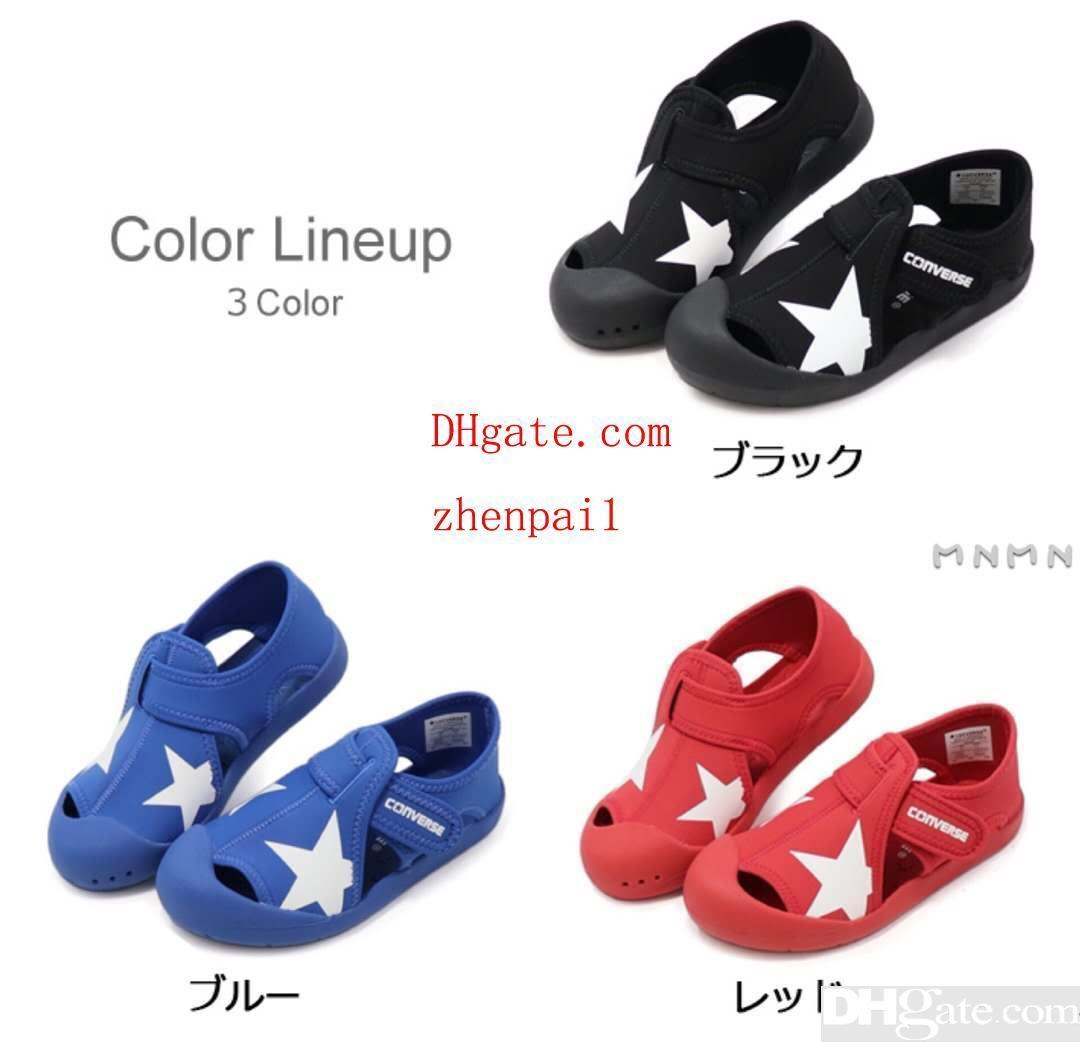 Fashion kid shoes baby boy girl black sandals star pattern boy deisgner sandal Eu 24-35 send with box