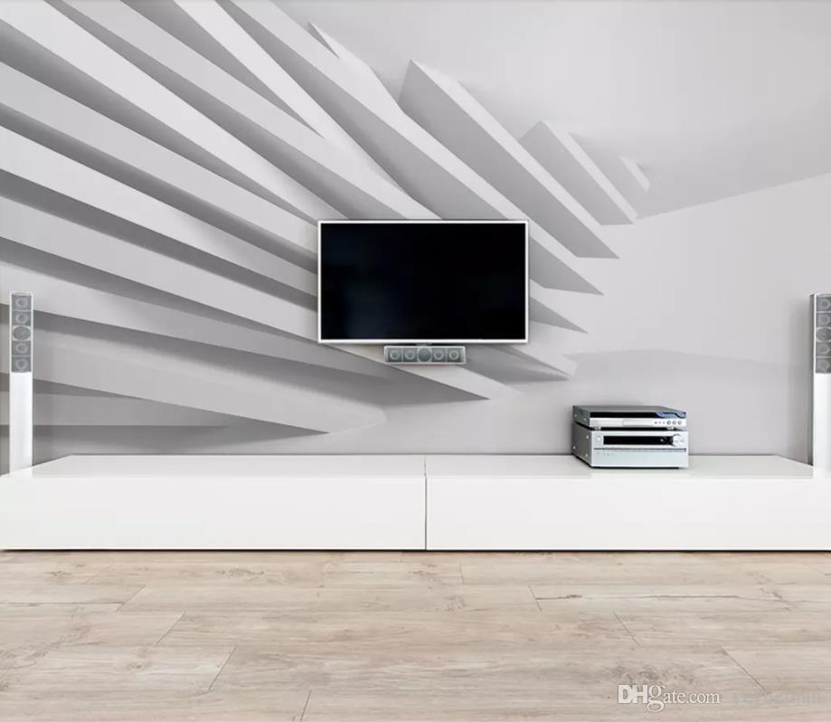 Großhandel Benutzerdefinierte Einfache 3d Tapete Wohnzimmer Sofa Tv ...