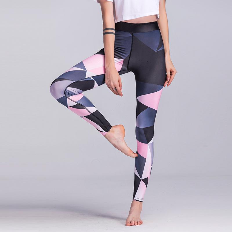 d8de5c78bd 2019 New Style Sport Trousers Sport Pants Women Elastic Printed Yoga Pants  Yoga Leggings Running Tights Sport Leggings Gym Clothes Fitness Yoga From  ...