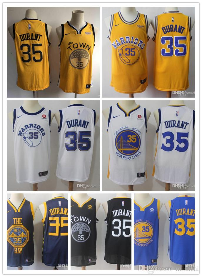 best service f3484 275e9 Mens Golden States Stephen 30 Curry Kevins 35 Durants Warriors jersey Klay  11 Thompson Andre 9 lguodala Stitched ball Jersey