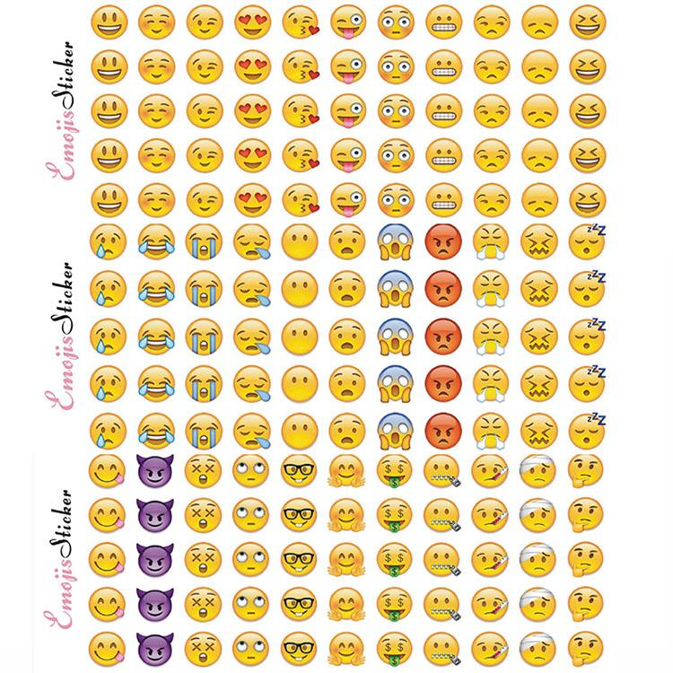 Emoji Face Stickers Removable Decal Mural Home Decor Emoji Smile