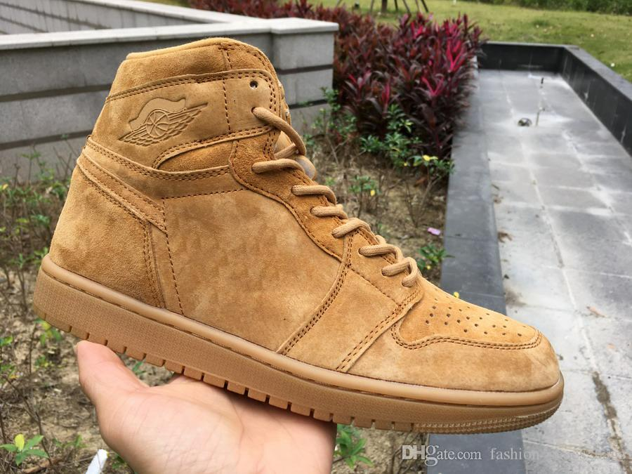 Hydro I 1 High Wheat Yellow Real Carbon Fiber Basketball Shoes Designer  Mens Women Shoes Quality 1s Sneakers Shoes Fashion With Double Box Buy  Shoes Online ... e2f06f927