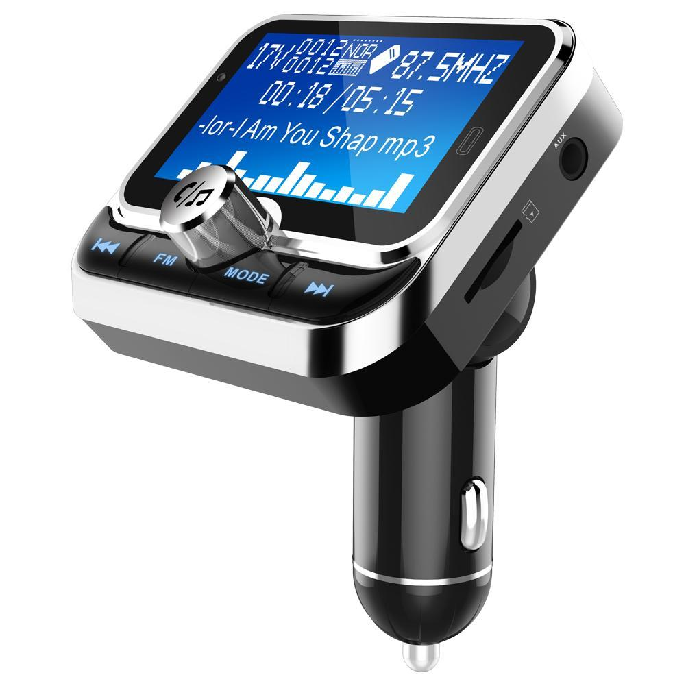 Car Bluetooth FM Transmitter MP3 1.8 Inch Screen Radio Adapter Car Kit With Dual USB Charger Wireless Radio Adapter