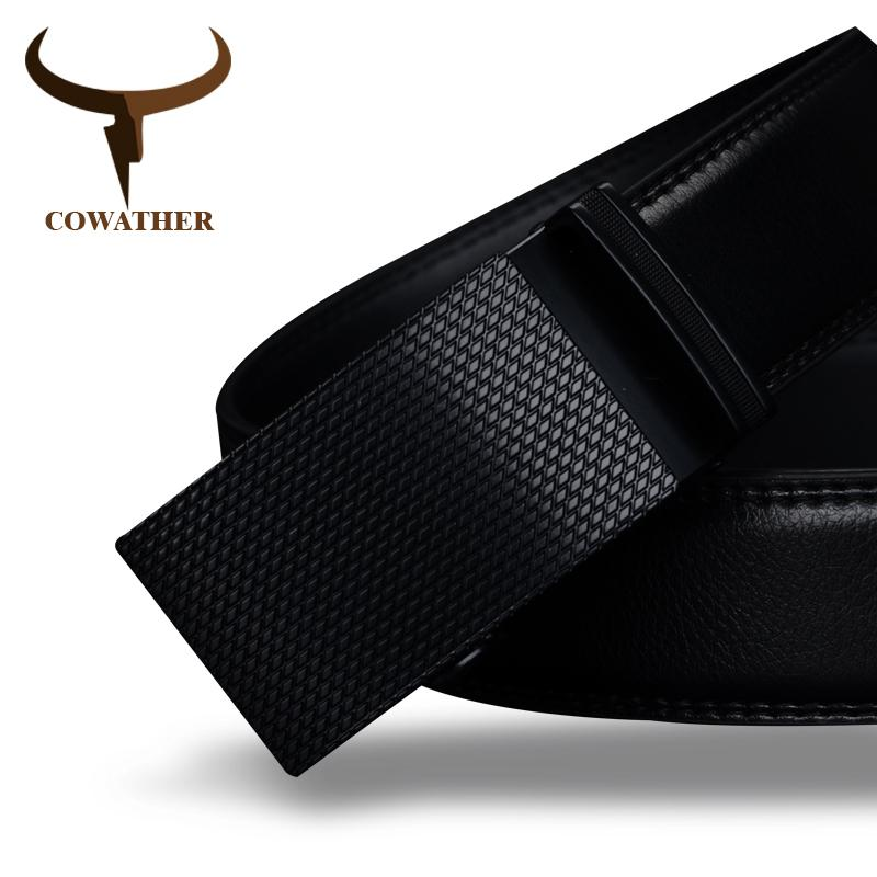 Cowather Good Mens Belt Luxury High Quality Cow Genuine Leather Belts For Men Automatic Buckle Fashion Waist Male Free Shipping Y19051803