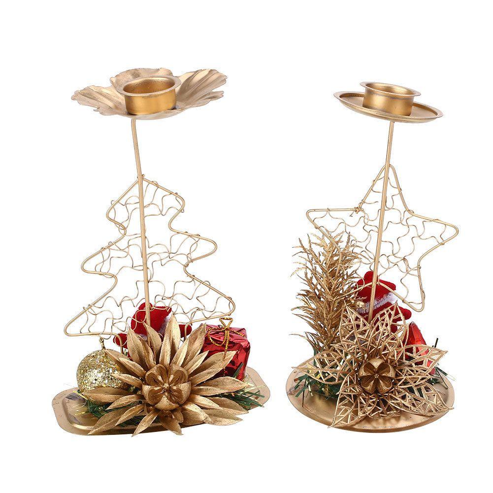 Weihnachtsbaum Kerzenhalter.Weihnachtsbaum Eisen Kerzenhalter Kerzenständer Party Hochzeit Festival Bunte Retro Kreative D19011702