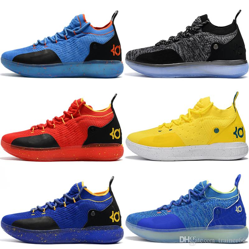 1408241a9 2019 Eybl Kd 11 Basketball Shoes Sneakers Men Women Yellow Still Emoji  Twilight Pulse Kevin Durant 11S XI Trainers Designer Sports Shoes Sneakers  From ...