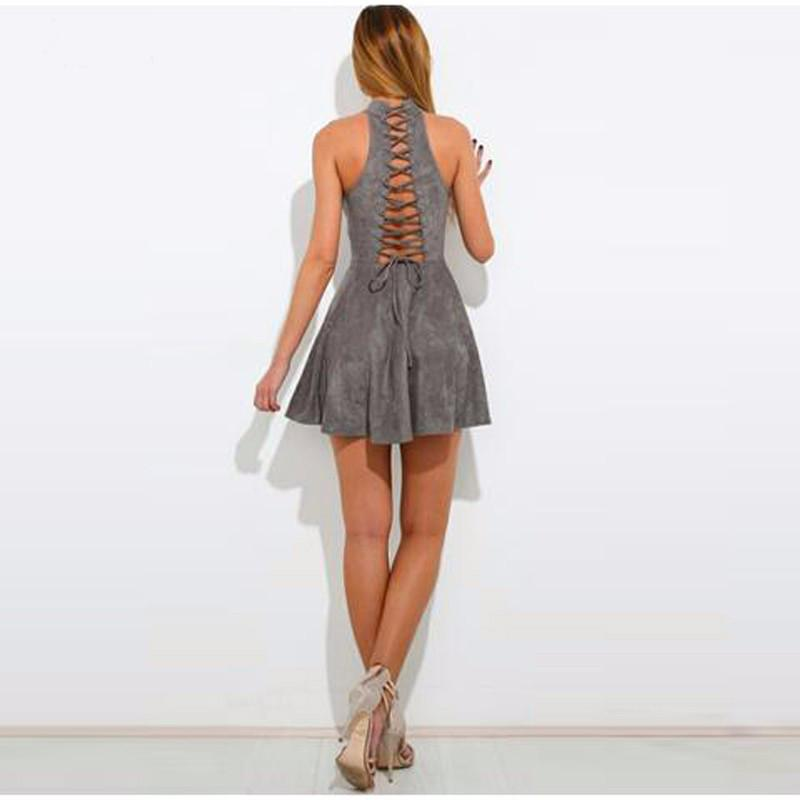 New Women Sexy Dress Summer Party Club Dresses Backless Mini Sleeveless Fashion  Casual Solid Good Quality Dress Sexy Party Dress Online with  27.43 Piece on  ... 795d5055ed2a