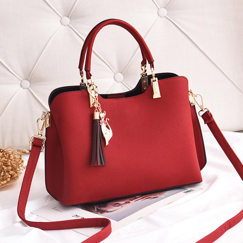 6e5e546c65ec OTHERCHIC Fashion Women Shoulder Bags Plain Tote Tassel Handbags Women  Messenger Bag Simple Stylish Big Crossbody Bag 8N12 02 Ladies Purse Leather  Briefcase ...