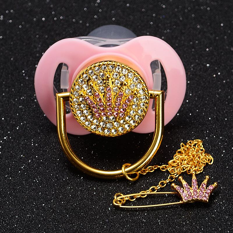 MIYOCAR wholesale price 20 pcs bling rhinestone Baby Pacifier Dummy BPA  free FDA pass safe bling pacifier dummy mix color