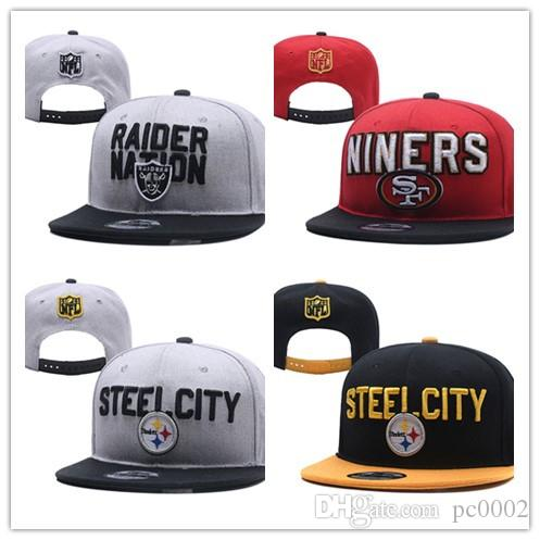 Pittsburgh Raiders 49ers Baseball Snapbacks All Teams Steelers Football  Hats Man Sports Flat Hat Hip Hop Caps Thousands Styles Baseball Hats  Newsboy Cap ... 832d050ec54