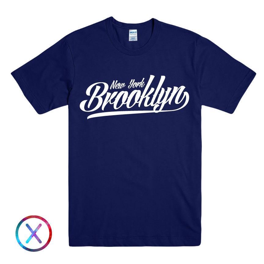 3524155f06353 Acheter NEW YORK BROOKLYN IMPRIME T SHIRT HOMME NYC BRONX SLOGAN T SHIRT  STREET LOGO TOPFunny Livraison Gratuite Unisexe Casual T Shirt De  12.96 Du  ...