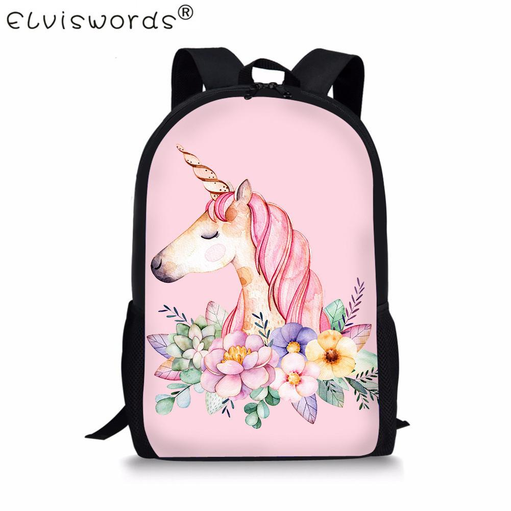 4b529170a9 ELVISWORDS Cute Children School Bags For Kids 3D Unicorn Print Student  Teenager Girls Book Bags Women Schoolbag Casual Mochila Y18110107 Large  Backpacks For ...