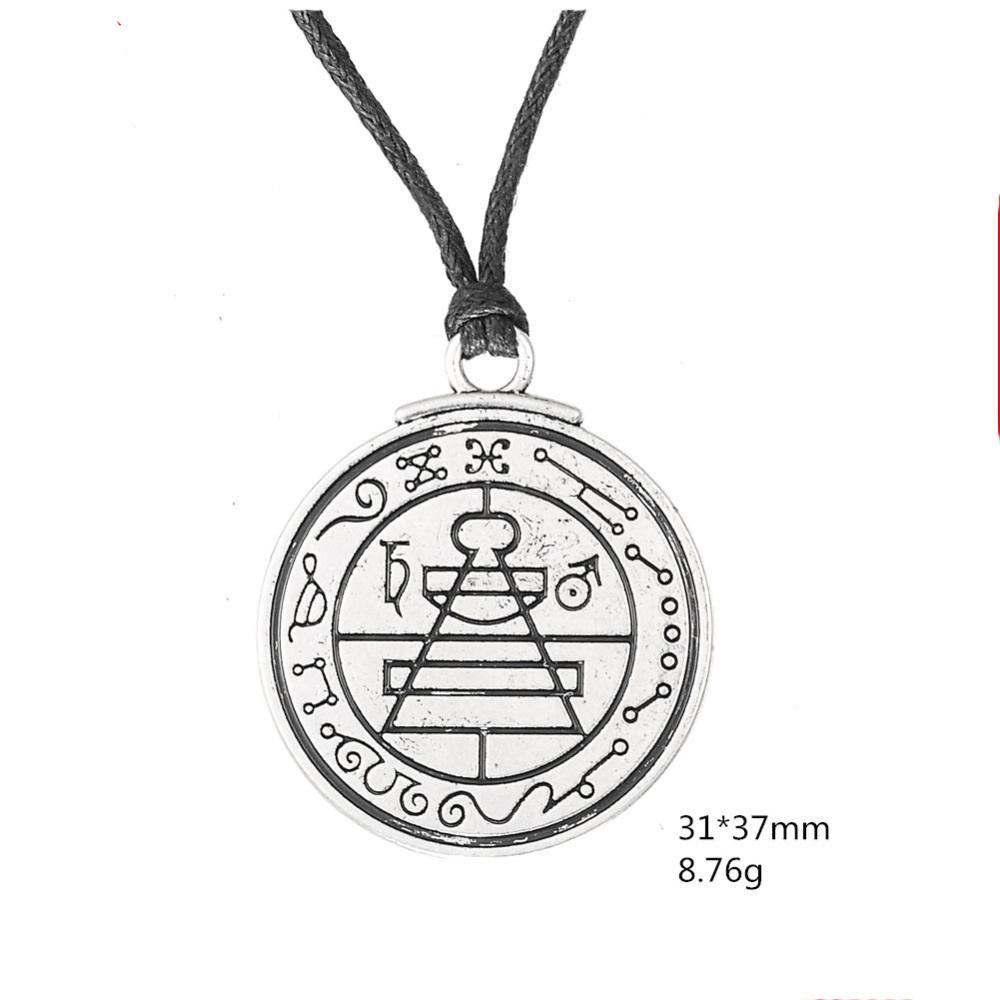 10PCS Talisman Secret Seal Of Solomon Pentacle Pendant Solomon Witchcraft  Worship Amulet Seal Necklace Jewelry Necklace