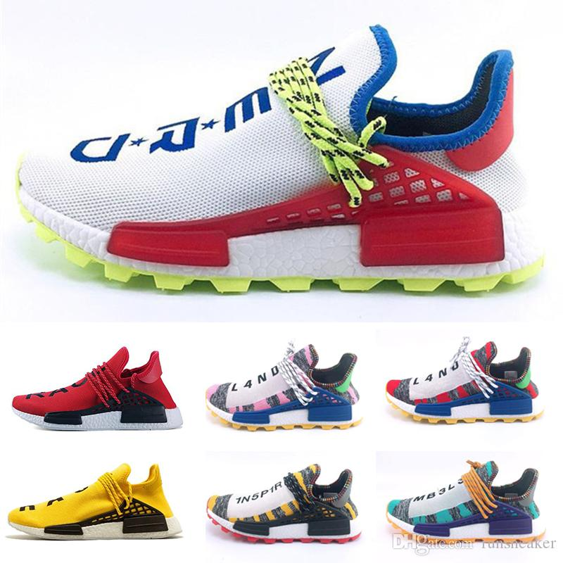 quality design 48703 d5565 Human Race III Running Shoes Men Women Pharrell Williams Designer Triple  White Green Black Sports Sneakers Trainer Shoes