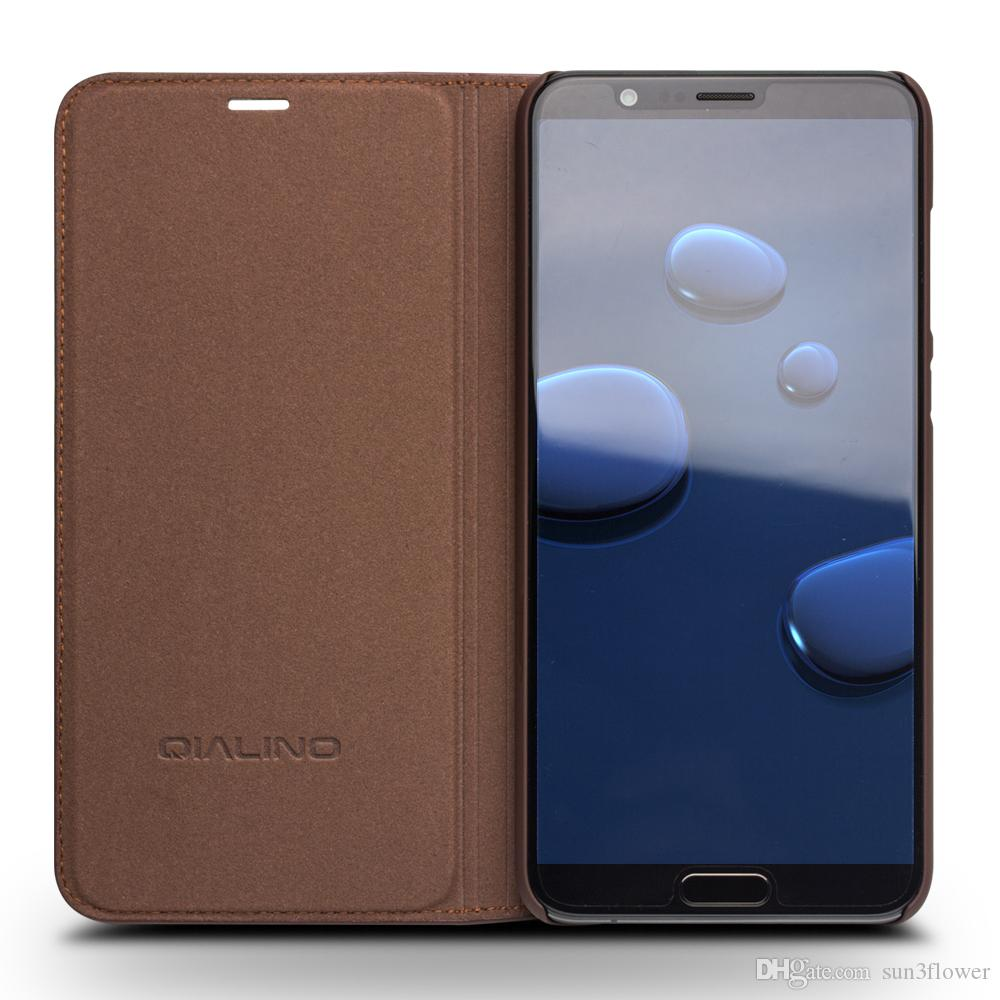 buy popular b2b00 a9df3 Genuine Leather Wallet Flip Case for Huawei Honor V10 Handmade Cover for  Huawei honor v10 Luxury Ultra Slim Flip Case