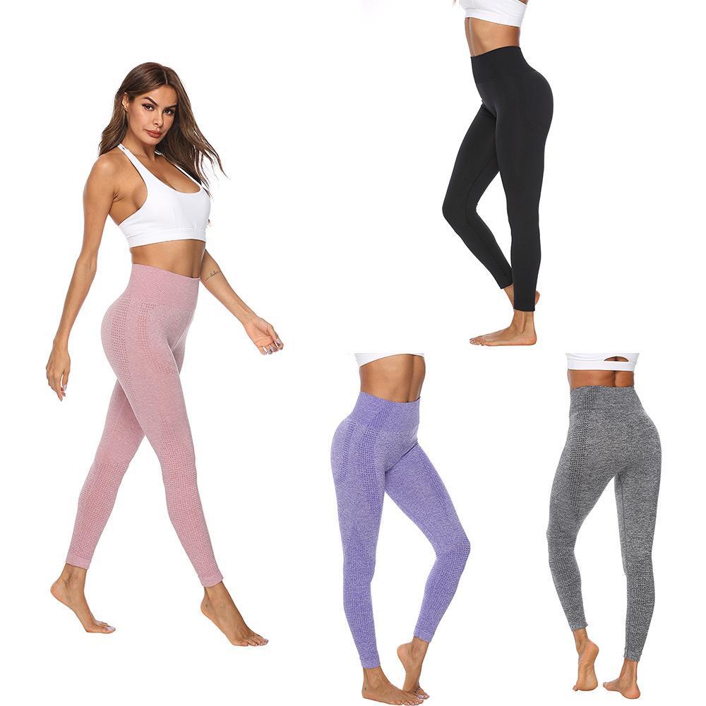 b6da6cdb3578a5 2019 Women New Flawless Knit Tights Gym High Waisted Seamless ...