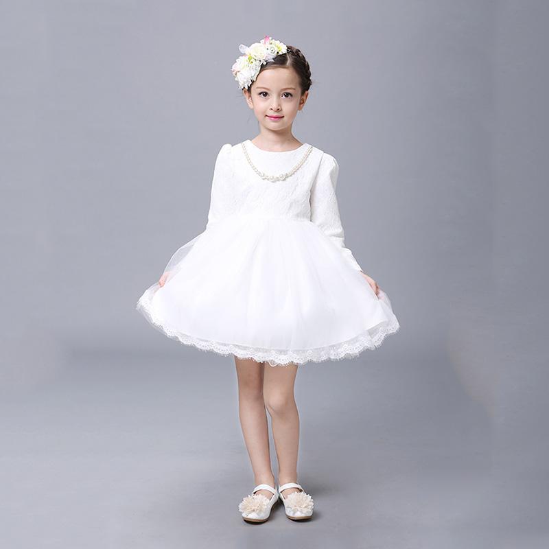 5eee0a3eac1f Vestido de malla de encaje para niñas Niños pequeños Primavera de tul Arco  grande Fiesta de la princesa Boda Vestidos Fomal Niños Bebé Bata fille ...