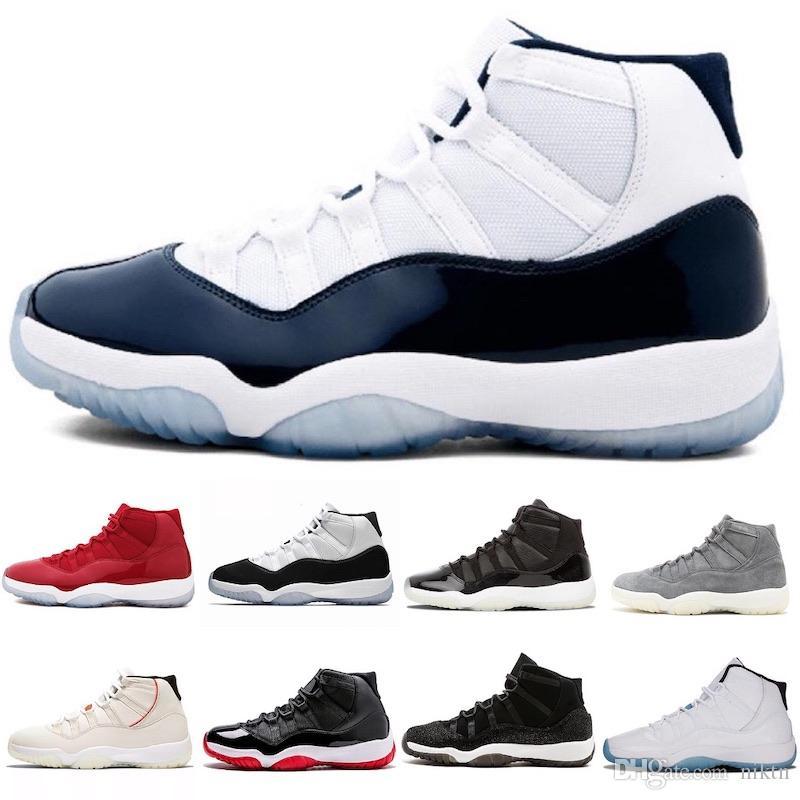 los angeles 00eab abe33 Nike Air Jordan 11 Scarpe da basket low-cost 11 XI low cost economici uomo  11s chiusura oro Snakeskin voli scarpe sneakers j11 in vendita