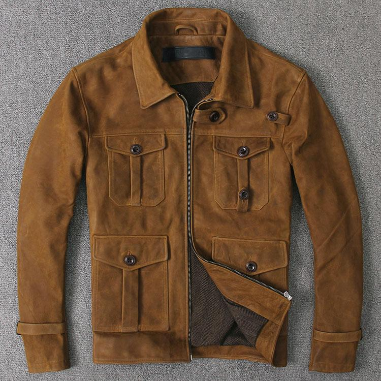 2493f0c80 Jason statham and no oil wax cow leather jackets may troupe, restore  ancient ways do old leather coat