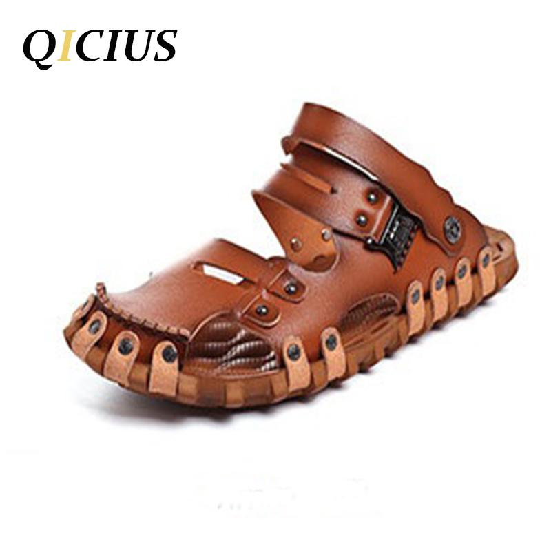 Schuhe Für Männer Sandalen B0081 Outdoor Mode Qicius Casual Ledersandalen Atmungsaktive 2017 Neue Sommer N8wOn0vm