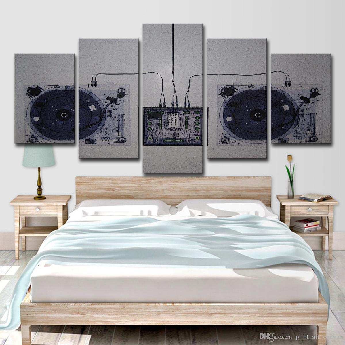 Canvas HD Prints Pittura per soggiorno Home Decor 5 pezzi Musica Dj Console  Mixer Immagini Abstract Poster Wall Art