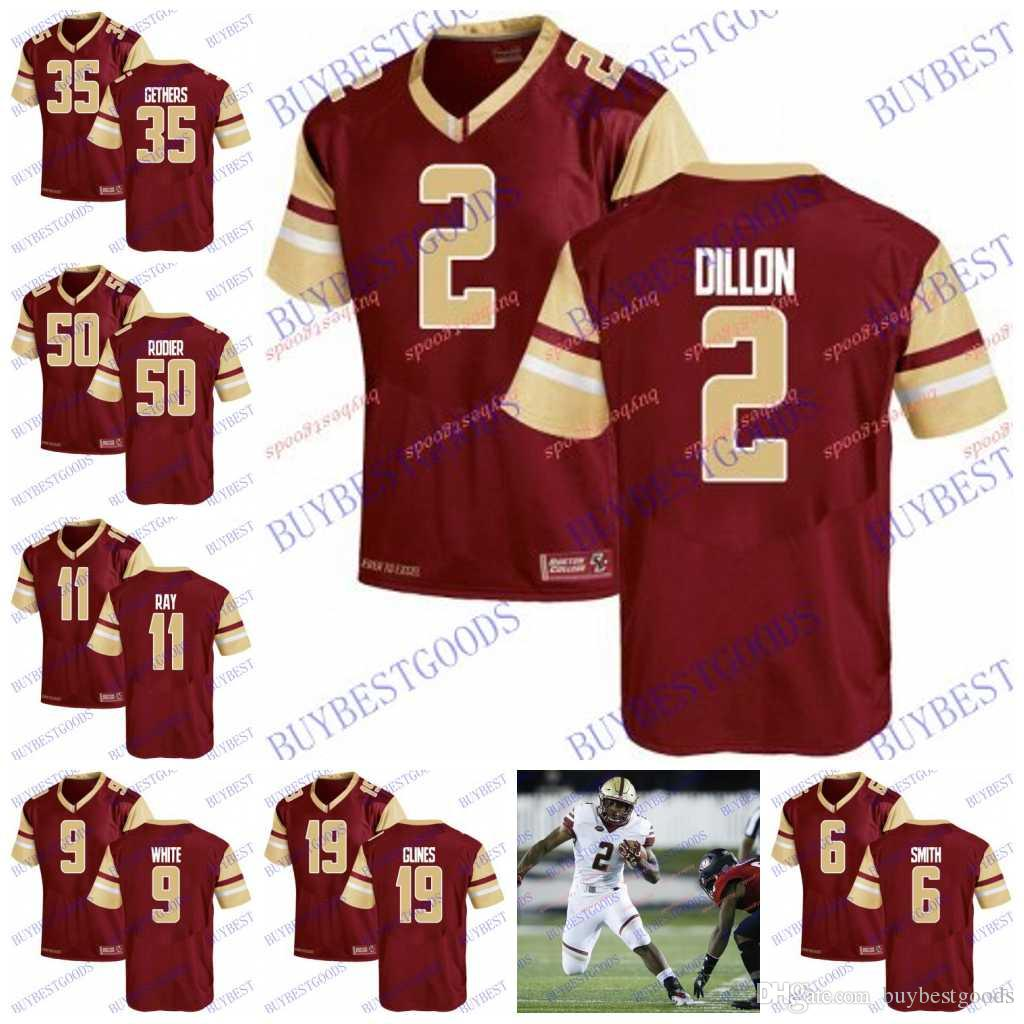 premium selection 80c2e f479a Custom NCAA Boston College Eagles 2 AJ Dillon 6 Jeff Smith 40 Luke Kuechly  90 BJ Raji 7 Matt Hasselbeck 22 Doug Flutie Football Jersey