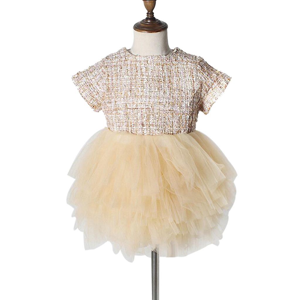 30abe46efa0b Moda para niños pequeños para bebés niñas princesa fiesta de malla linda  desfile vestido de tutú 2019 venta caliente