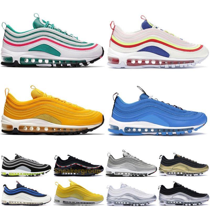 97 97s Running Shoes 2019 Men Women South Beach Overbranding Blue Hero Triple Black Bullet Designer Sport Sneakers Trainers 5.5 11