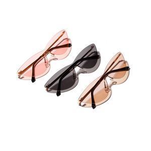 a0f33c5ef4 Women Transparent Cat Eye Sunglasses Rimless Retro Sunglass Women ...